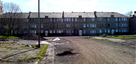 Tenement housing, Oatlands, Glasgow. May 2008.