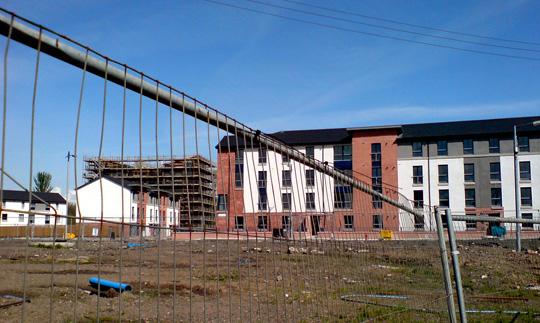 New housing, Oatlands, Glasgow. May 2008.