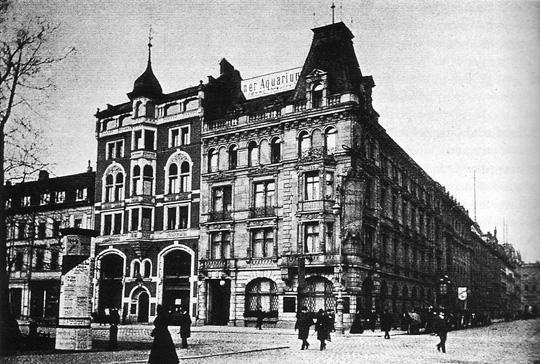 Berliner Aquarium, Unter den Linden. Circa 1900.