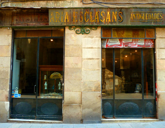 Antiques shop, Gothic Quarter, Barcelona