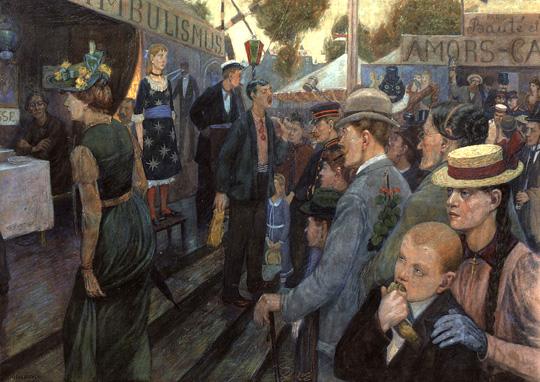 Hans Baluschek, Alte Hasenheide, 1895
