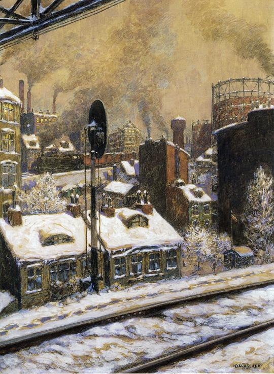 Hans Baluschek, Tiefer Schnee, 1918