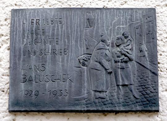 Plaque, Hans Baluschek