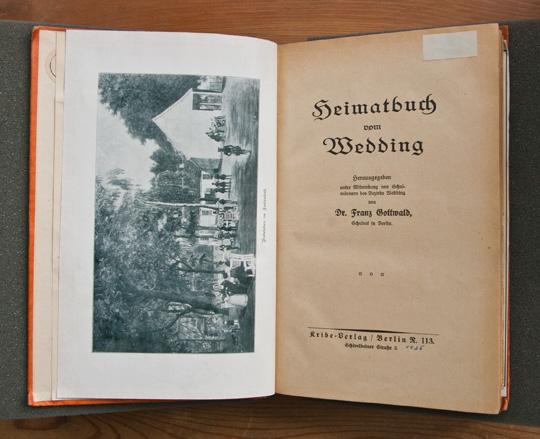 Frontispiece  to Heimatbuch vom Wedding,