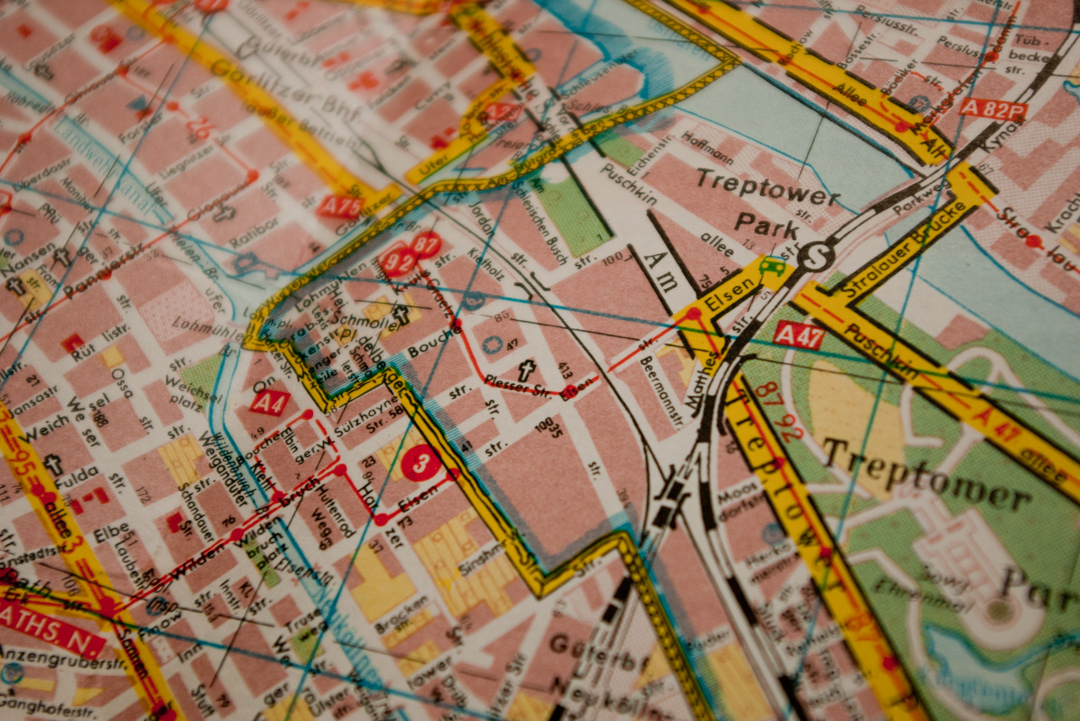 A map of post-war Berlin – In the Jungle of Cities