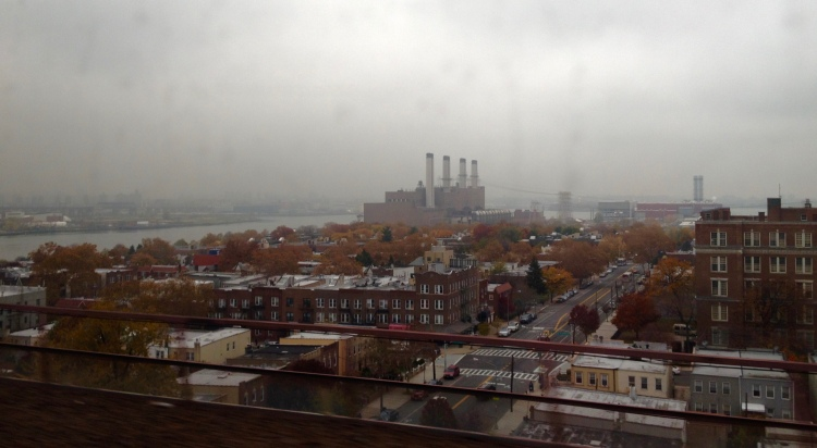 The view from the train, north of Manhattan