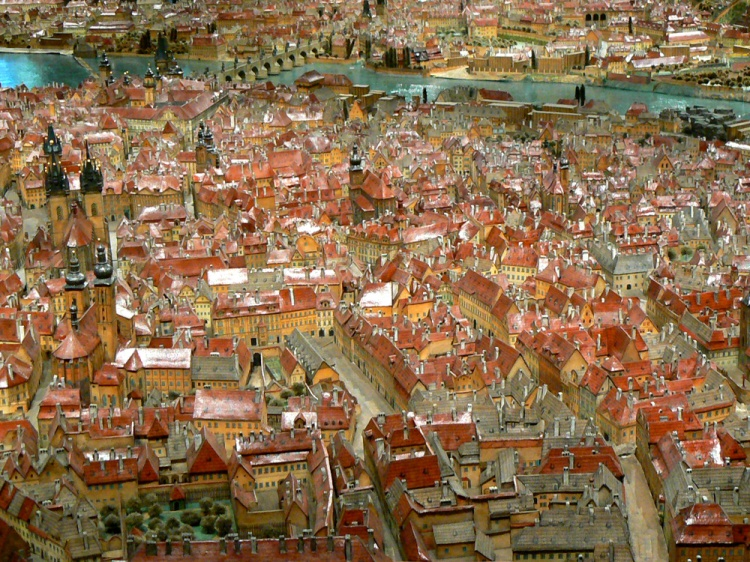 Antonín Langweil's model of Prague (1826-1837).