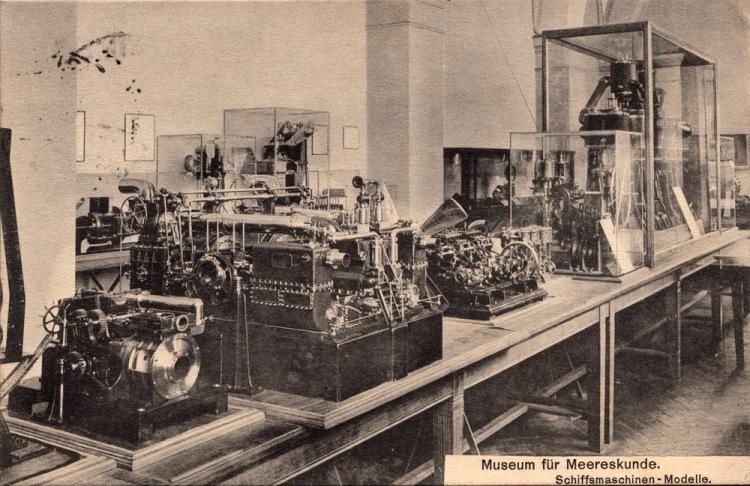 Schiffsmaschinen-Modelle, Museum für Meereskunde